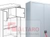 szafa aktowa metalowa 211m z drzwiami chowanymi w boki szafy - ALTARO